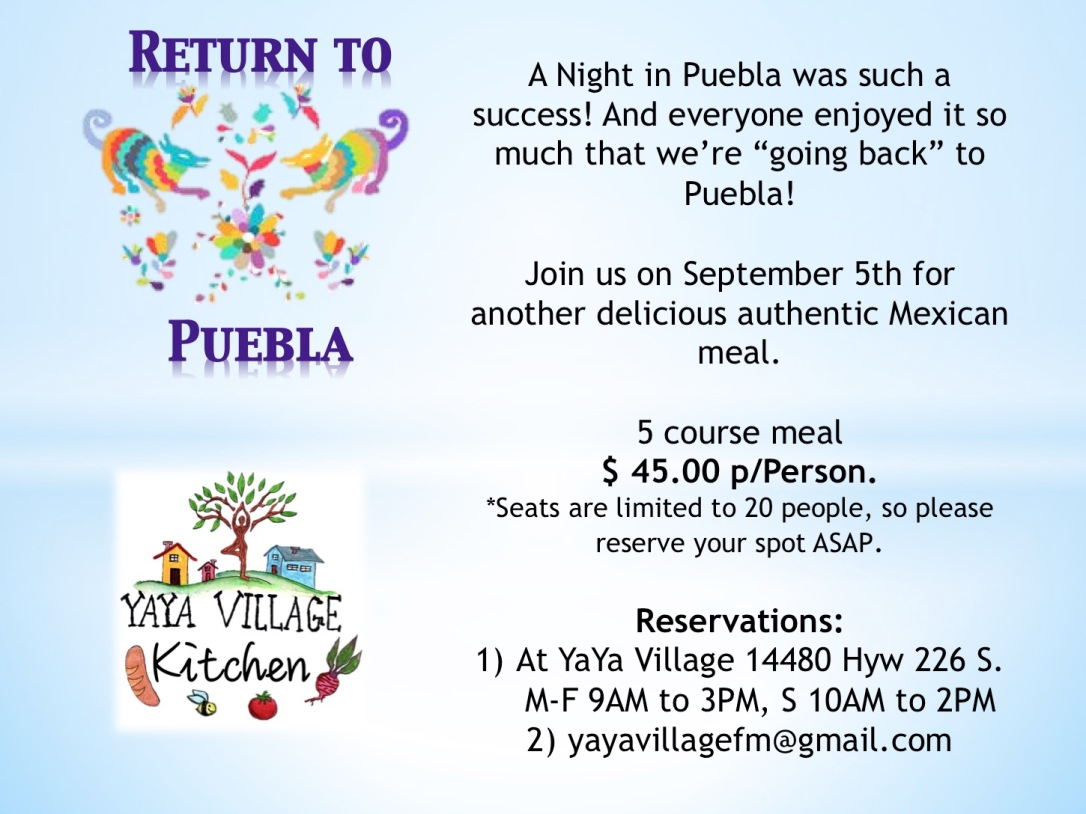 Return to Puebla